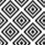 Den svartvita aztecen smyckar den geometriska etniska sömlösa modellen, vektor Royaltyfri Foto