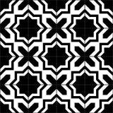 Den svartvita moroccanen belägger med tegel den sömlösa modellen, vektor Arkivbild