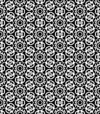Den svartvita sömlösa repetitionmodellen och bakgrundsvektorn avbildar Arkivfoto