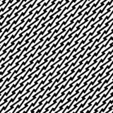 Den svartvita sömlösa repetitionmodellen och vektorbilden planlägger Arkivfoto