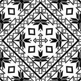 Den svartvita sömlösa repetitionmodellen och vektorbilden planlägger Royaltyfri Foto