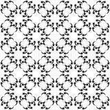 Den svartvita sömlösa repetitionmodellen och vektorbilden planlägger Royaltyfria Foton