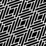 Den svartvita sömlösa repetitionmodellen och vektorbilden planlägger Arkivbilder