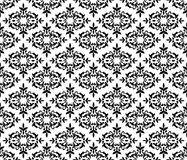 Svartvit seamless blom- wallpaper Fotografering för Bildbyråer