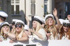 Den svenska avläggandet av examen ståtar Fotografering för Bildbyråer