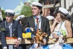 Den svenska avläggandet av examen ståtar Royaltyfri Bild