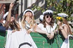 Den svenska avläggandet av examen ståtar Arkivbilder