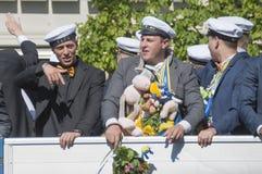 Den svenska avläggandet av examen ståtar Royaltyfri Fotografi