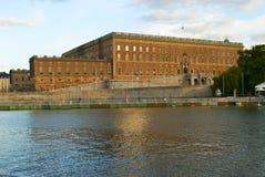 Svensk kunglig slott i Stockholm Fotografering för Bildbyråer