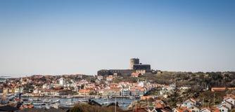Den svenska staden av Marstrand Arkivfoto