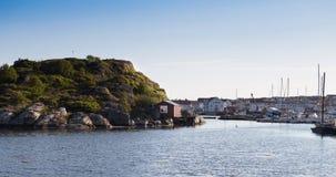 Den svenska staden av Marstrand 2 Arkivbild