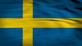 Den Sverige flaggan 3d framför 4k stock video