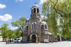Den Sveti Sedmochislenitsi kyrkan i Sofia, Bulgarien Arkivfoto