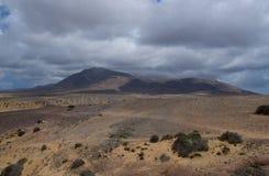 Söderna av Lanzarote Arkivfoto