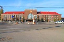 Den sydliga stationen, den huvudsakliga järnvägsstationen av staden av Kaliningrad Arkivfoton