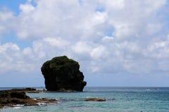 Den sydligast ön av den Taiwan Hengchun halvön, Kenting nationalpark Kenting Chuanfanshih --- Royaltyfria Bilder