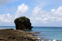 Den sydligast ön av den Taiwan Hengchun halvön, Kenting nationalpark Kenting Chuanfanshih --- Arkivfoton
