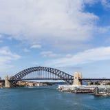 Den Sydney hamnen överbryggar Arkivfoto
