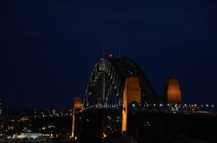 Den Sydney hamnen överbryggar Arkivfoton