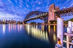 Den Sydney hamnen överbryggar Fotografering för Bildbyråer