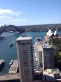 Den Sydney hamnen beskådar Fotografering för Bildbyråer