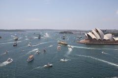 Sydney trafikstockning Arkivfoto