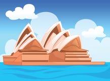 Den Sydney operahuset, australisk illustration Arkivbild