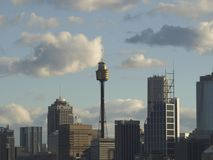 Den Sydney staden beskådar Arkivbilder