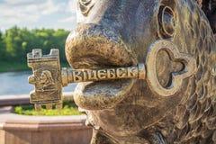 Den symboliska tangenten från staden av Vitebsk Arkivbild