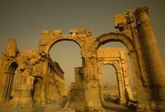 DEN SYRIEN PALMYRAROMAREN FÖRDÄRVAR Royaltyfri Fotografi