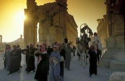 DEN SYRIEN PALMYRAROMAREN FÖRDÄRVAR Royaltyfria Foton