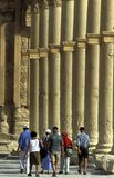 DEN SYRIEN PALMYRAROMAREN FÖRDÄRVAR Royaltyfri Foto
