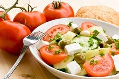 den täta greken blandade sallad som sköts upp Royaltyfria Foton