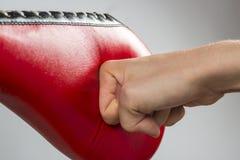 Den Taekwondo boxningen övar Royaltyfria Foton