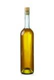 den tagna bort flaskan isolerade etiketten över egen din sättande vita wine för text Arkivbild