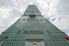 Den Taipei 101 byggnaden. Royaltyfri Fotografi