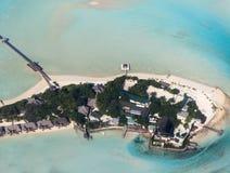 Taj exotiska ting, Emboodhu Finholoo, södra Male Maldiverna, antenn av n arkivbilder