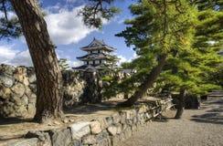 Den Takamatsu slotten parkerar, Japan arkivbild