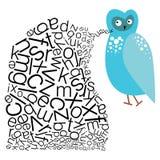Den talande ugglan vektor illustrationer