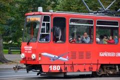 Den Tallinn spårvagnen Arkivfoto