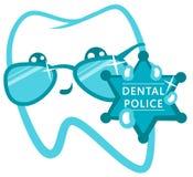 Den tand- polisen Snut med ett emblem Fotografering för Bildbyråer