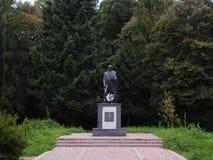 Den Taras Shevchenko monumentet i parkera Royaltyfria Foton