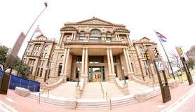 Den Tarrant County domstolsbyggnaden, Fort Worth Texas royaltyfria bilder