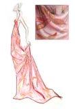 den tecknade modehanden skissar Royaltyfri Foto