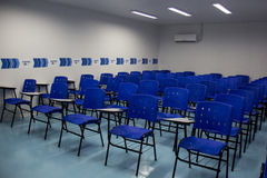Den tekniska skolan öppnades med Rio de Janeiro 2016 olympiska kommittéresurser Fotografering för Bildbyråer