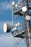 Telekommunikationen står hög Arkivfoton