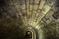 Templar tunnel i Acco Royaltyfria Bilder