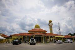 Den Tengku Abdullah Al Haj moskén, Kampung Bukit ringde, Jerantut, Pahang Arkivfoto