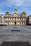 Den Terreaux fyrkanten i den Lyon staden Royaltyfria Bilder