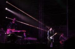 Den Texas musikbandet bor konsert Royaltyfri Bild